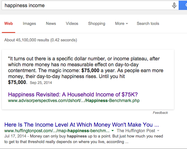 Google knowledge card says that $75k should be enough for anyone